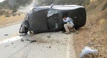 Accident avec une BMW dans un virage