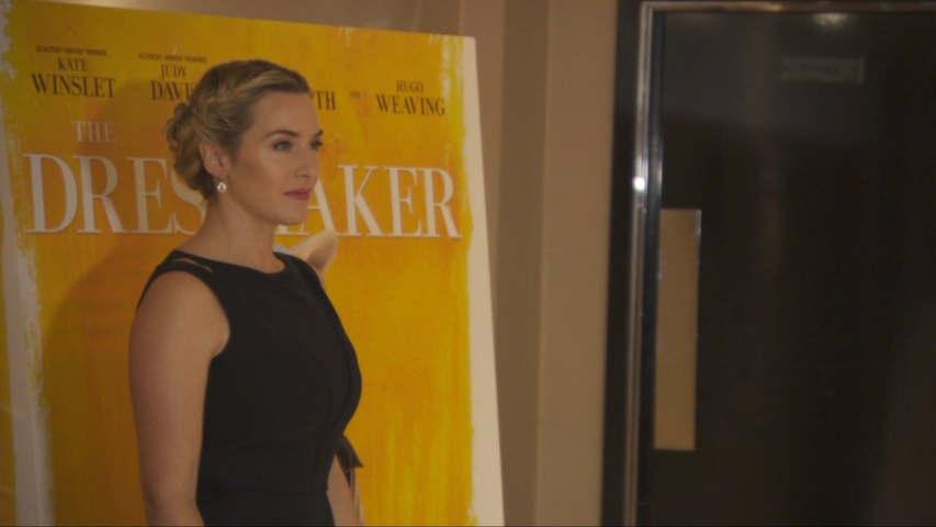 Kate Winslet Chats At 'The Dressmaker' Premiere In London