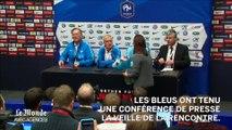 """Didier Deschamps : """"nous sommes là pour montrer que nous sommes fiers d'être français"""""""