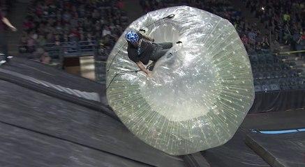 Chris Haffey Zorb Crash in Milwaukee   Nitro Circus