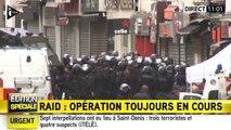 Images d'une des interpellations à Saint-Denis