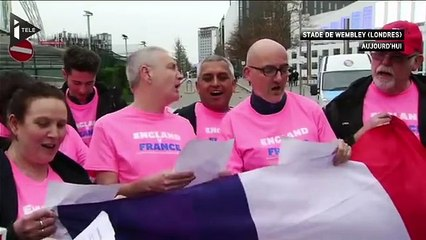 Les supporters anglais chantent la Marseillaise