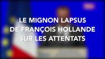 Le mignon petit lapsus de François Hollande sur les attentats
