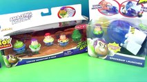 PLAY-DOH Zing Ems Toy Story LAUNCHER Rocket Launch Woody Buzz Zurg Jessie Rex Martian HobbyKidsTV