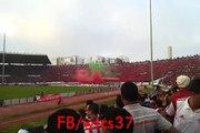 WAC vs ocs الوداد البيضاوي vs اولمبيك اسفي النشيد الوطني المغربي بصوت جماهير وداد الأمة