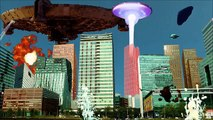 UFO ARMAGEDDON - Alien Attack on Business Center 2015 - Ataque extraterrestres y OVNI