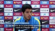 """Real-Barça: Selon Suarez, Messi a de """"bonnes sensations"""" et pourrait jouer"""