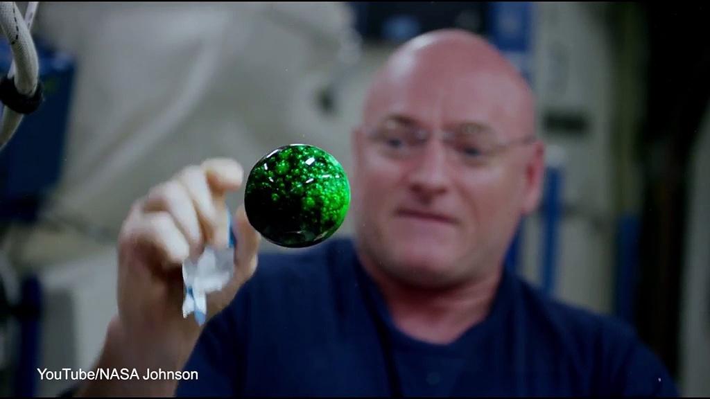 Alka-Seltzer tablet filmed floating in space in 4K definition