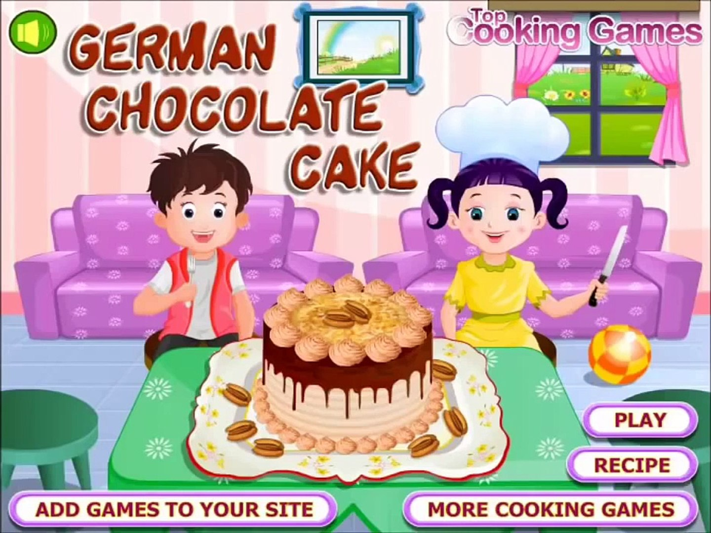 Terrific German Chocolate Cake Gameplay Delicious Cooking Games Great Video Funny Birthday Cards Online Eattedamsfinfo