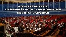 L'assemblée vote la prolongation de l'état d'urgence