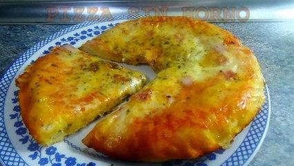 PIZZA CASERA SIN HORNO - recetas de cocina faciles y economicas y rapidas de hacer - Comidas ricas