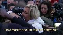 Muslim offers free hugs in Paris - see Parisians reaction