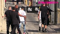 Chris Brown Ignores His Fans Leaving Jimmy Kimmel Live! 9.8.15 TheHollywoodFix.com