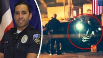 Brazen killers ambush California cop in his own car steps away from police station