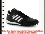 adidas Mens Mundial Team Astro Turf Trainers Football Boots Sport Shoes Lace Up Black/White
