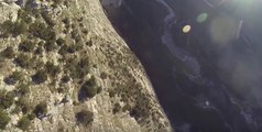 Daredevil Glides Down Steep Cliff in a Wingsuit