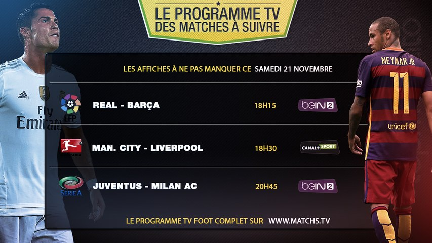 Le programme tv foot du week-end !