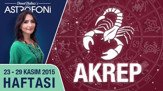 AKREP haftalık yorumu 23-29 Kasım 2015