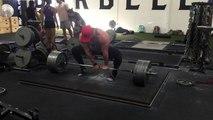 5 plate deadlift single arm deadlift | Bradley Martyn