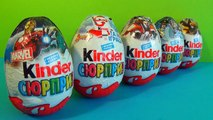 5 Kinder Surprise eggs unboxing MARVEL SpiderMan Kinder Surprise eggs TRANSFORMERS!