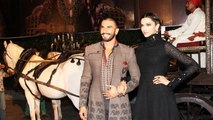 Ranveer Singh & Deepika Padukone's ROYAL ENTRY @ Bajirao Mastani Trailer Launch