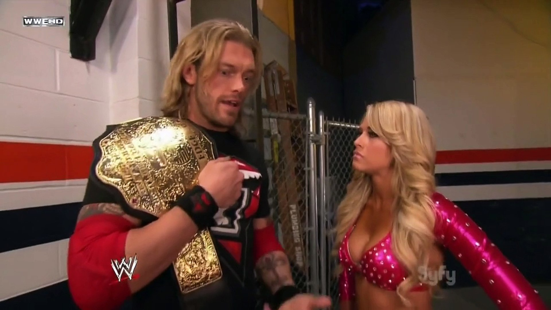 Kelly Kelly and Edge Backstage Segment - video Dailymotion
