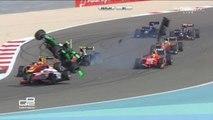 Rowland Big Crash 2015 GP2 Bahrain 2 Race 2