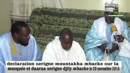 Urgent: Declaration De Serigne Mountakha mbacke