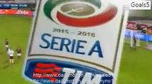 Miralem Pjanic Goal Bologna 1 - 1 AS Roma Serie A 21-11-2015