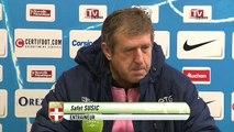 Réactions des entraîneurs après Tours FC - Evian