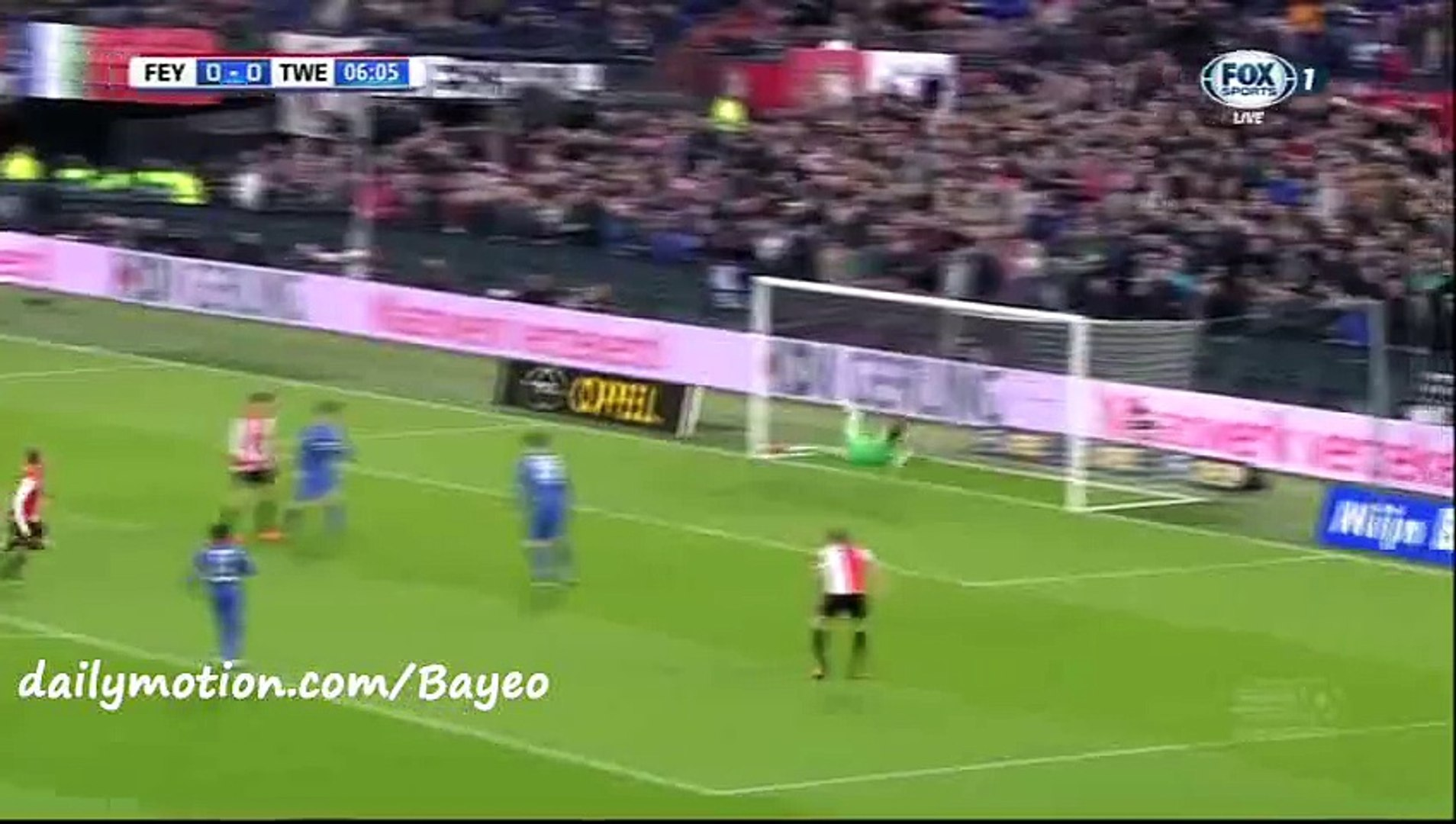Gustafsson Goal - Feyenoord 1-0 Twente - 22-11-2015 Eredivisie