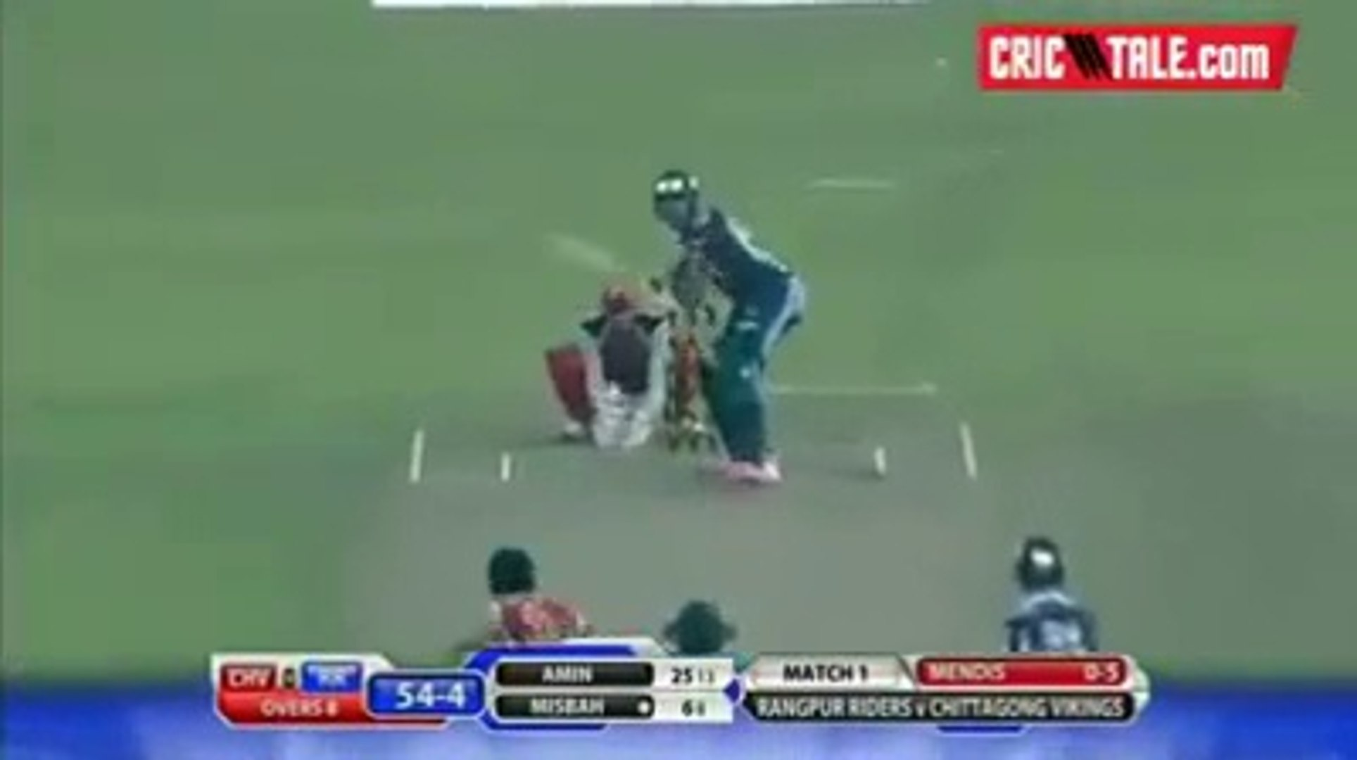 Misbah ul Haq 61 Runs Of 39 Balls against Chittagong Vikings in BPL T20 2015.