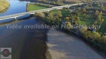 Viaduc de La Loire aux Ponts de Cé vu par drone en automne, Pays de La Loire, France  (5) - © Mickael COURANT