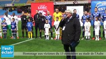 Stade de l'Aube : hommage aux victimes des attentats du 13 novembre