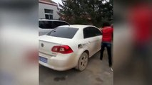 Wife smashes up husband's car after she discovers his affair
