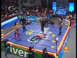 03 Extreme Tiger, Jack Evans & Rocky Romero vs. La Secta