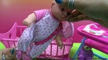Baby Doll Pink Crib Rocking Toy - Baby Doll Good Sleep- Making Play-Doh Cupcake