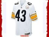 NIKE NFL PITTSBURGH STEELERS TROY POLAMALU AMERICAN FOOTBALL GAME JERSEY IN WHITE (XL)