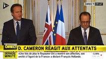 """Cameron en français dans le texte : """"Nous sommes solidaires avec vous"""""""