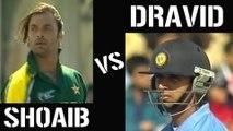 Pakistan India Cricket Fight - Rahul Dravid Vs Shoaib Akhtar