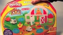 Play Doh amiguitos de la granja, Play Doh farm barnyard pals animal activities, mundo de jugutes