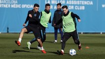 FC Barcelona training session: Final training session before the visit of Roma