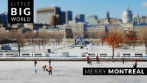 Merry Montreal (Time Lapse- Tilt-Shift- 4k)