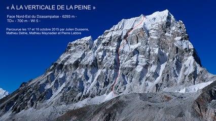 Face Nord-Est du Dzasampatse 6293 mètres Népal 2015
