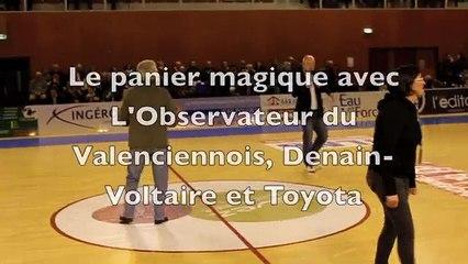 Le jeu du « Panier Magique » avec l'Observateur du Valenciennois, Denain-Voltaire et Toyota