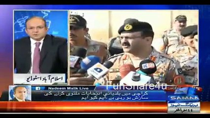 """Karachi Operation vs LB Elections Reality Kia Hai""_ Nadeem Malik Live"