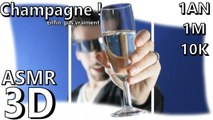 Champagne ! 1 an, 1M et 10K plus tard ASMR french binaural (français, 3D, Soft Spoken, bubbles... )