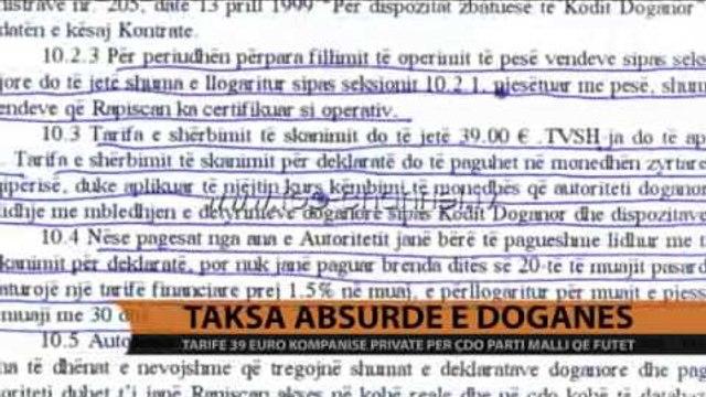 Taksa absurde e doganës - Top Channel Albania - News - Lajme