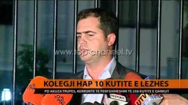 Kolegji hap 10 kutitë e Lezhës - Top Channel Albania - News - Lajme