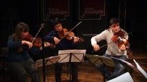 """Arnold Schoenberg : """"La Nuit transfigurée"""" (extrait) par  Li-Kung Kuo (violon), Anastasia Karizna (violon), Manuel Vioque-Judde (alto), Tanguy Parisot (alto), Jérémie Billet (violoncelle) et Adrien Bellom (violoncelle)  I le Live de la matinale"""
